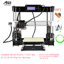 China Anet A8 3D Printer DIY i3 Upgrad High Precision Prusa 3D Printer Kits with 8GB SD Card Large Printing Size 220*220*240mm anet a8 prusa i3 reprap 3d printer high precision imprimante 3d diy 8gb sd plastic more colors express shipping from moscow page 5 page 9