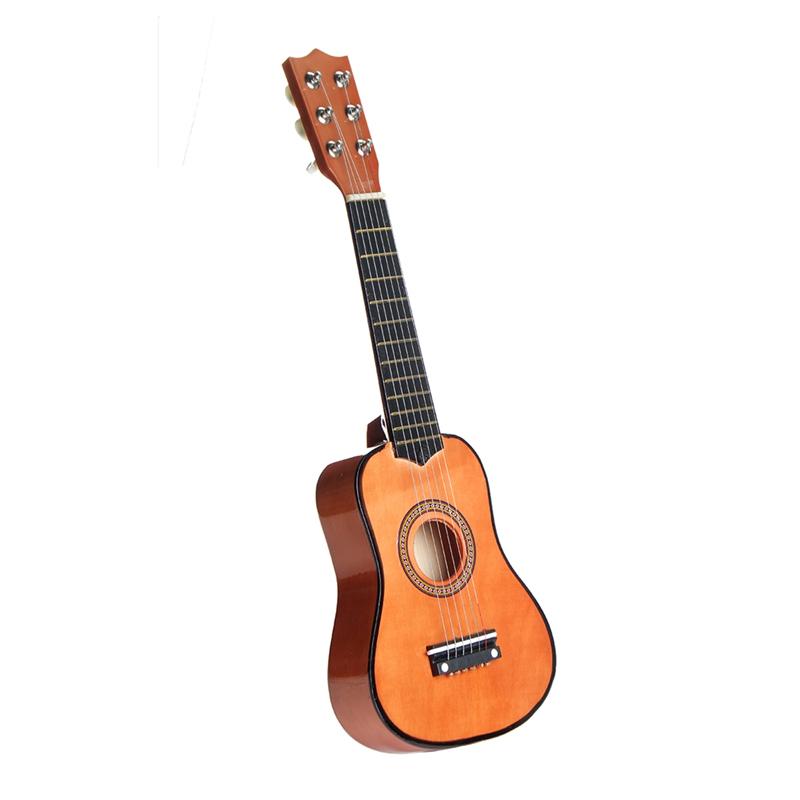 21 Inch 6 String Beginners Practice Acoustic Guitar with Pick For Kids Children Stringed Musical Instruments Gift