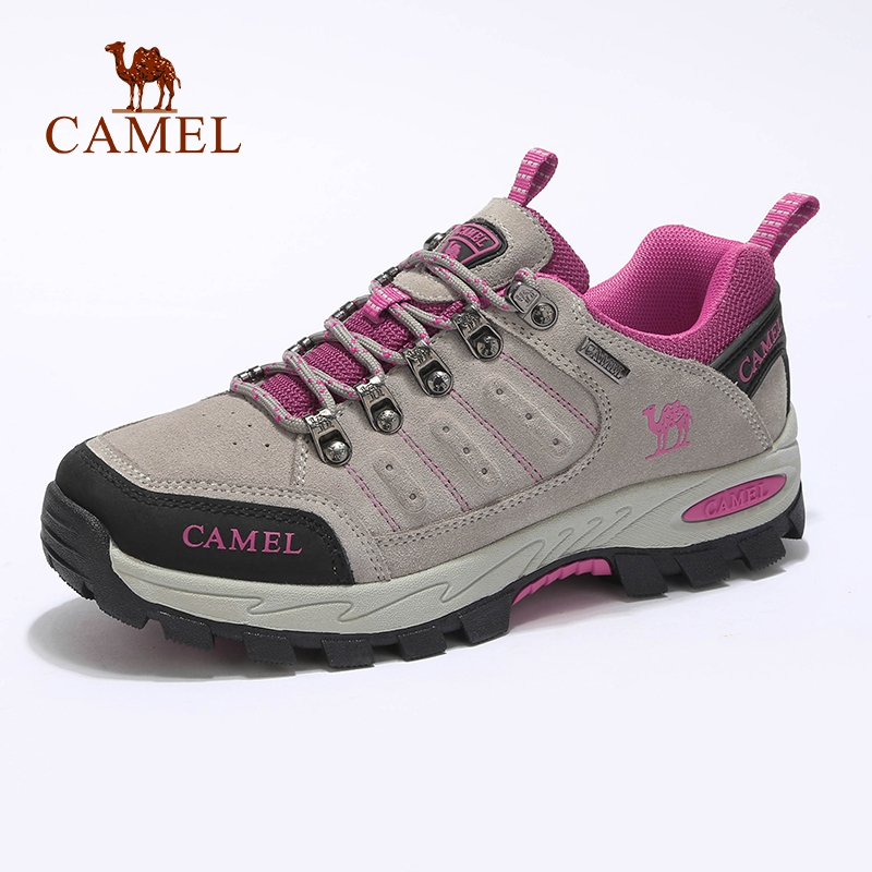 CAMEL Trekking Shoes Climbing Outdoor Women Soft Anti-Slip Suede Professional Breathable title=