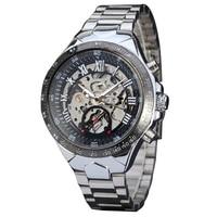 Men S Luxury Steampunk Hollow Stainless Steel Automatic Mechanical Wrist Watch