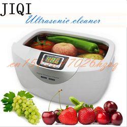 JIQI 2.5L 60 와트 40 키로헤르쯔 초음파 디지털 청소기 바구니 보석 시계 치과 가열 음소거 초음파 야채 청소기 목욕