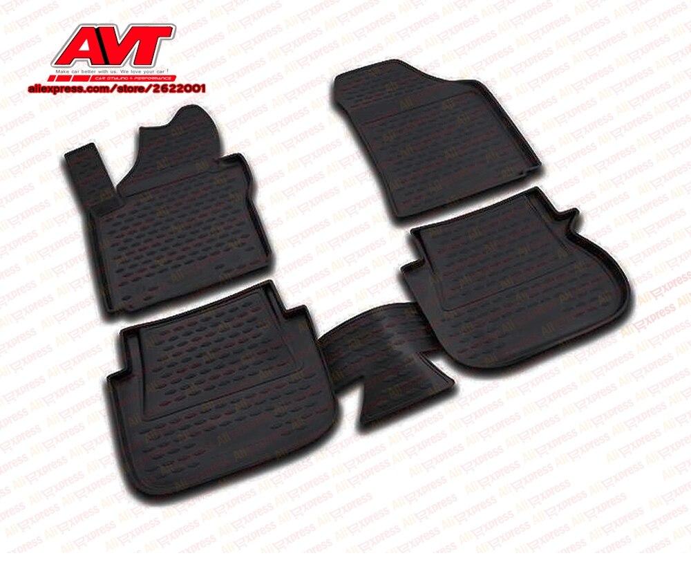 Negro a/ño: 15 Element EXP.CARVLK00003 Alfombrillas de Goma Antideslizantes Volkswagen Caddy IV 20 Passform