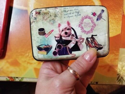 2019 Nieuwe Alpaca Print Bank Creditcard Case Box RFID anti-diefstal Business IDCard Houders Blokkeren Kat Hond Dier Aluminium Portemonnee photo review