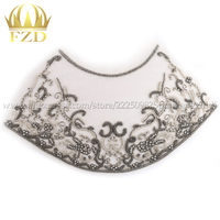 FANGZHIDI Thanksgiving day decor handmade rhinestone Embroidered patches applique shawl patches for garment dress