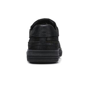 Image 4 - גמל חדש שחור גברים של נעלי עור אמיתי אופנה נעליים יומיומיות גברים מט מגמת בריטי פרא אדם דירות הנעלה