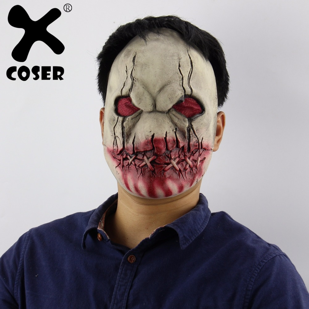XCOSER Halloween Cosplay Bloody Mouth Zombie Horror Latex Mask Halloween Cosplay Costume For Unisex