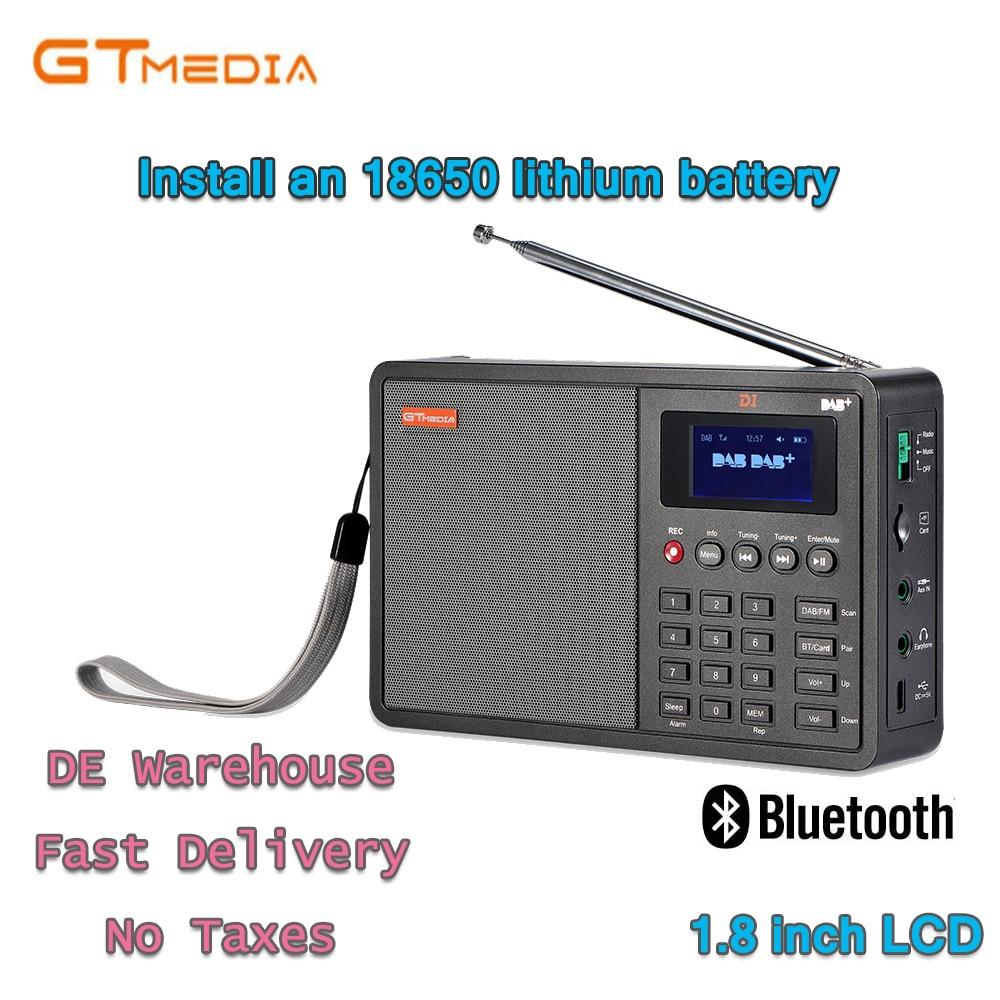 Radio Stero Für Uk Eu Mit Bluetooth Eingebauten Lautsprecher Mit Lcd Digital Uhr Radio Unterhaltungselektronik Heiße VerkÄufe Professionelle Schwarz Gtmedia D1 Dab