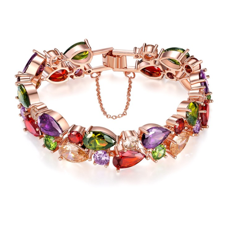 Fashion jewelry 925 silver New Fashion Crystal from Austrian Bracelet Flashing little Bangles Women Romantic Christmas gift
