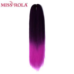 Image 5 - Miss Rola Kanekalon Hair Synthetic Jumbo Braid Yaki Straight Hair Extension Crochet Twist Braid 100 Grams 24 Inches Bulk Buy