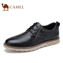 CAMEL Men Shoes Autumn Genuine Leather Man Strap Casual Polished Cowhide Footwear Male Cushioning Lace up Flats