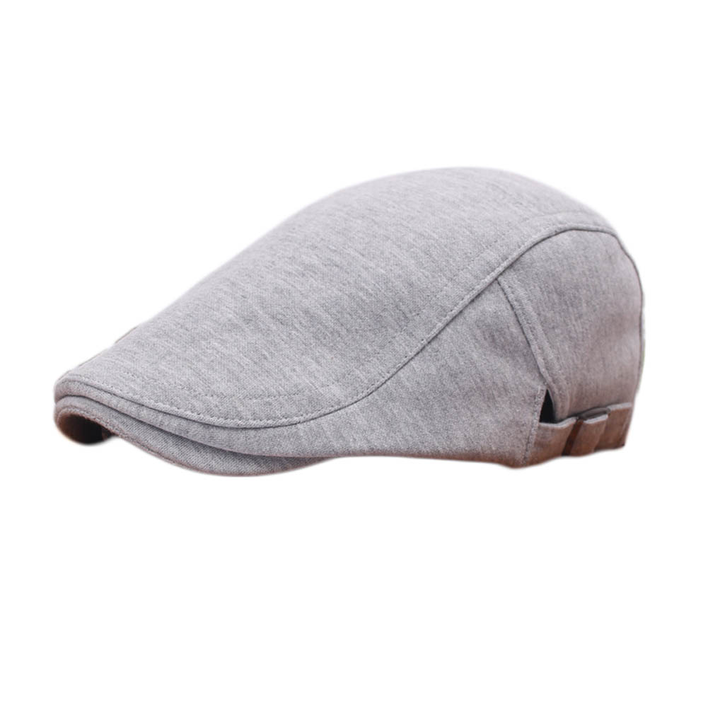 3 Colors High Quality Unisex Vintage Newsboy Cabbie Gatsby Flat Ivy Cap Cotton Driving Beret Hat
