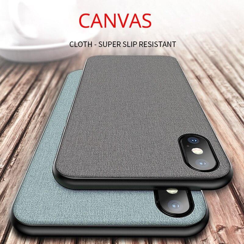 Ursprüngliche Echte Leinwand Tuch Fall Für iphone X 8 8 plus 7 plus 6 6 splus 5se 360 tpu voll schützen Ausgestattet Abdeckung für iphone xs max r