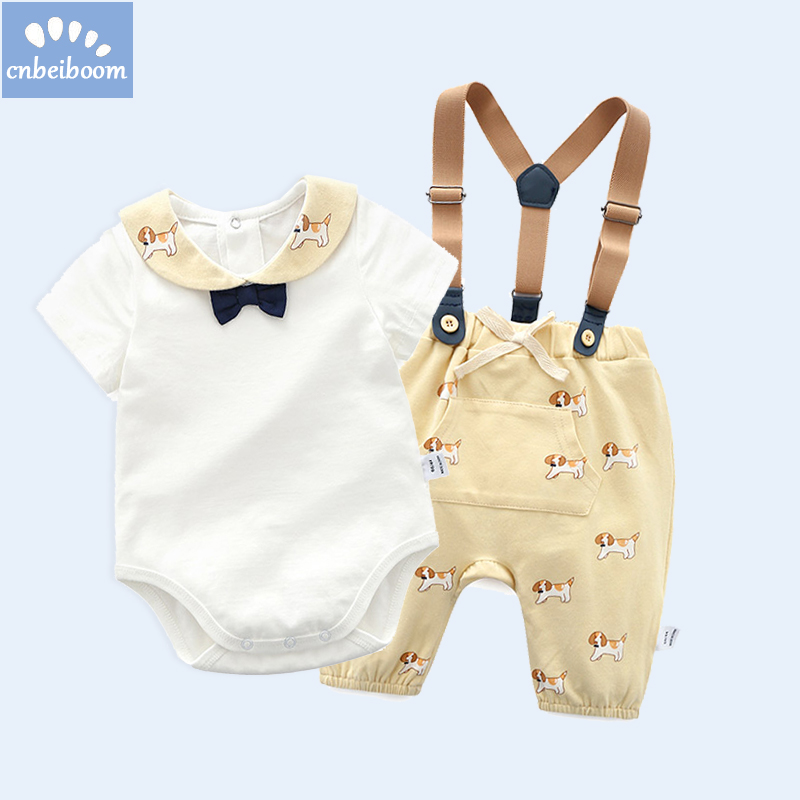 2018 Baby Boy/Girl Clothes 2pcs Clothing Sets Cotton Rompers overalls Pant cartoon infant Newborn jumpsuit high quality Clothes