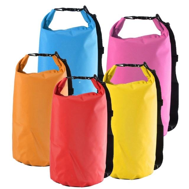 ba2e0cec50 15L Ultralight PVC Waterproof Outdoor Camping Swimming Drifting Diving  Rafting shoulder bag Dry bags Travel bag