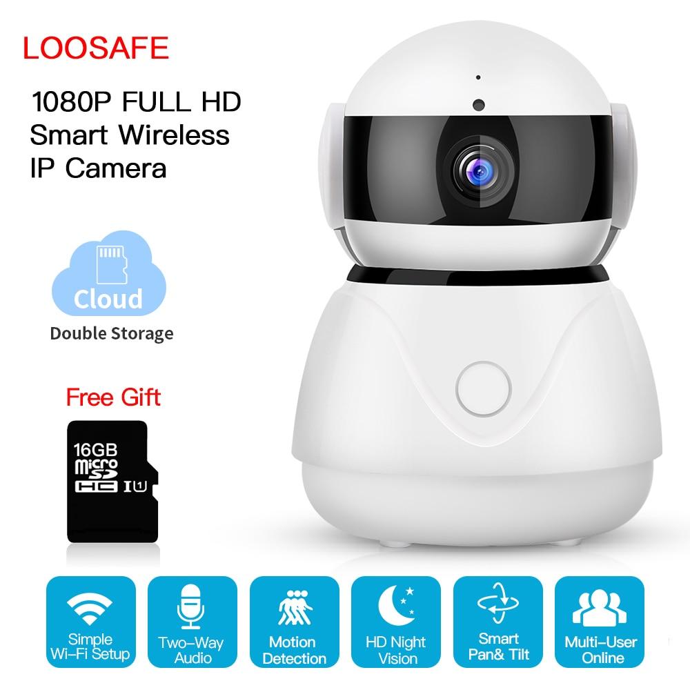 купить LOOSAFE Camera Surveillance Home Security IP Camera Wi-Fi Wireless 2MP P2P IR -Cut Cloud Storage Indoor IP Surveillance Cameras онлайн