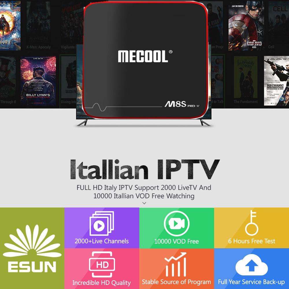 1 Year IPTV in M8S PRO W Voice Control System Android 7.1 IPTV Box 2/16G Italy IPTV Netherlands America Portugal Albania XXX italy iptv a95x pro voice control with 1 year box 2g 16g italy iptv epg 4000 live vod configured europe albania ex yu xxx