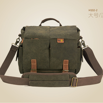 Fashion wear, waterproof, anti-theft, earthquake canvas shoulder outdoor leisure photography bag