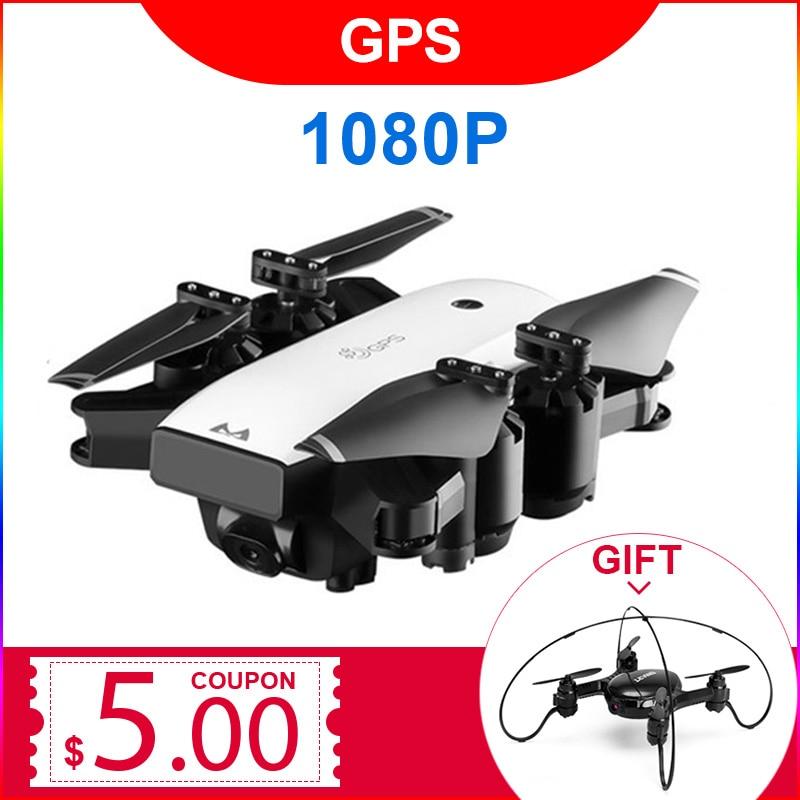 S20 GPS SUIVRE ME FPV RC Drone Avec Vidéo 1080 p HD Caméra Photos Caractéristiques Double Quadcopter 5MP pixel Pliable jouet drone
