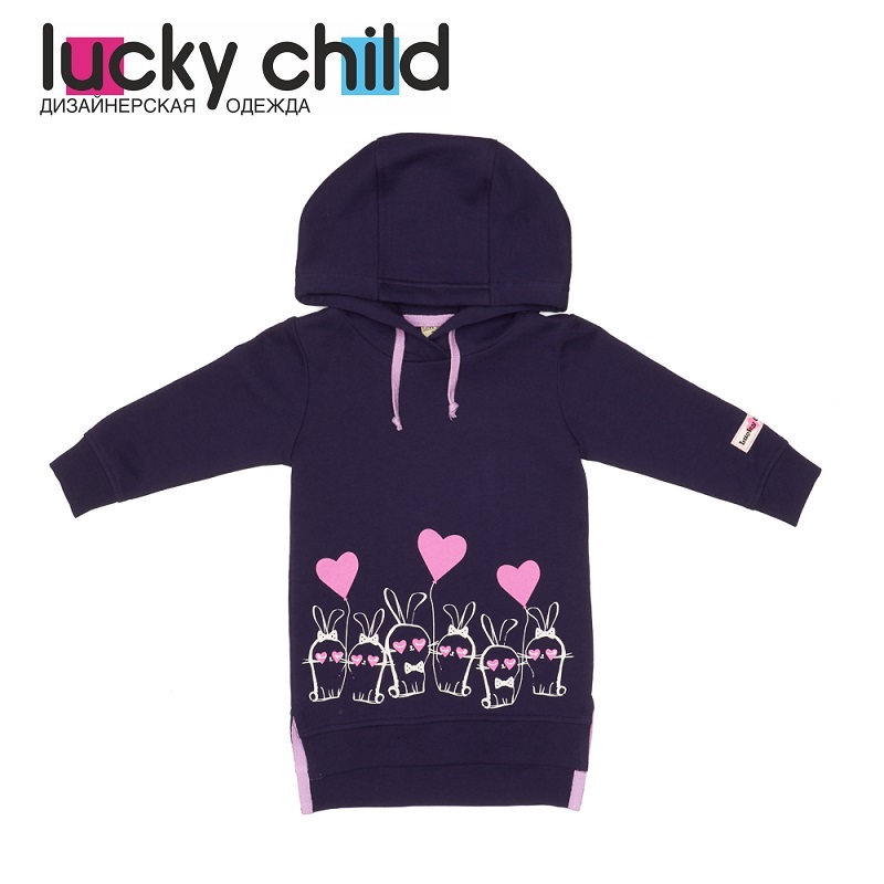 Hoodies & Sweatshirts Lucky Child for girls 54-66pfcv Cardigan Sweatshirt Kids Coat Children clothes t100 children sweater winter wool girl child cartoon thick knitted girls cardigan warm sweater long sleeve toddler cardigan