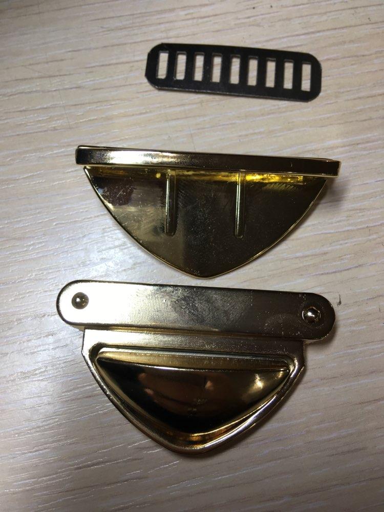 THINKTHENDO Triangle Shape Clasp Turn Lock Twist Locks for DIY Handbag Shoulder Bag Purse photo review