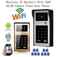 New Wireless IP Doorbell With 720P 3G 4G Camera Video Phone WIFI Door Bell RFID Code