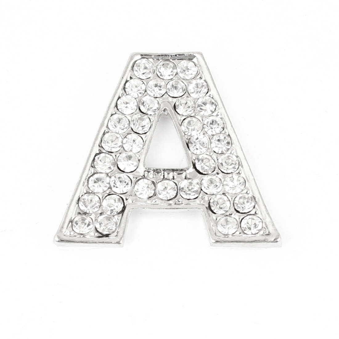 X Autohaux Bling Rhinestones Inlaid Silver Tone Letter A Shaped Car Sticker  Decoration-in Car Stickers from Automobiles   Motorcycles on Aliexpress.com  ... 496efd8df8bb