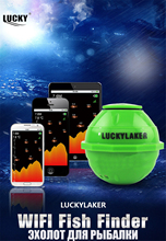 Lucky WI FI fish finder FF 916 Sonar Wireless WIFI 50 M Operation Range Rechargeable Lithuim Battery sonar Android IOS