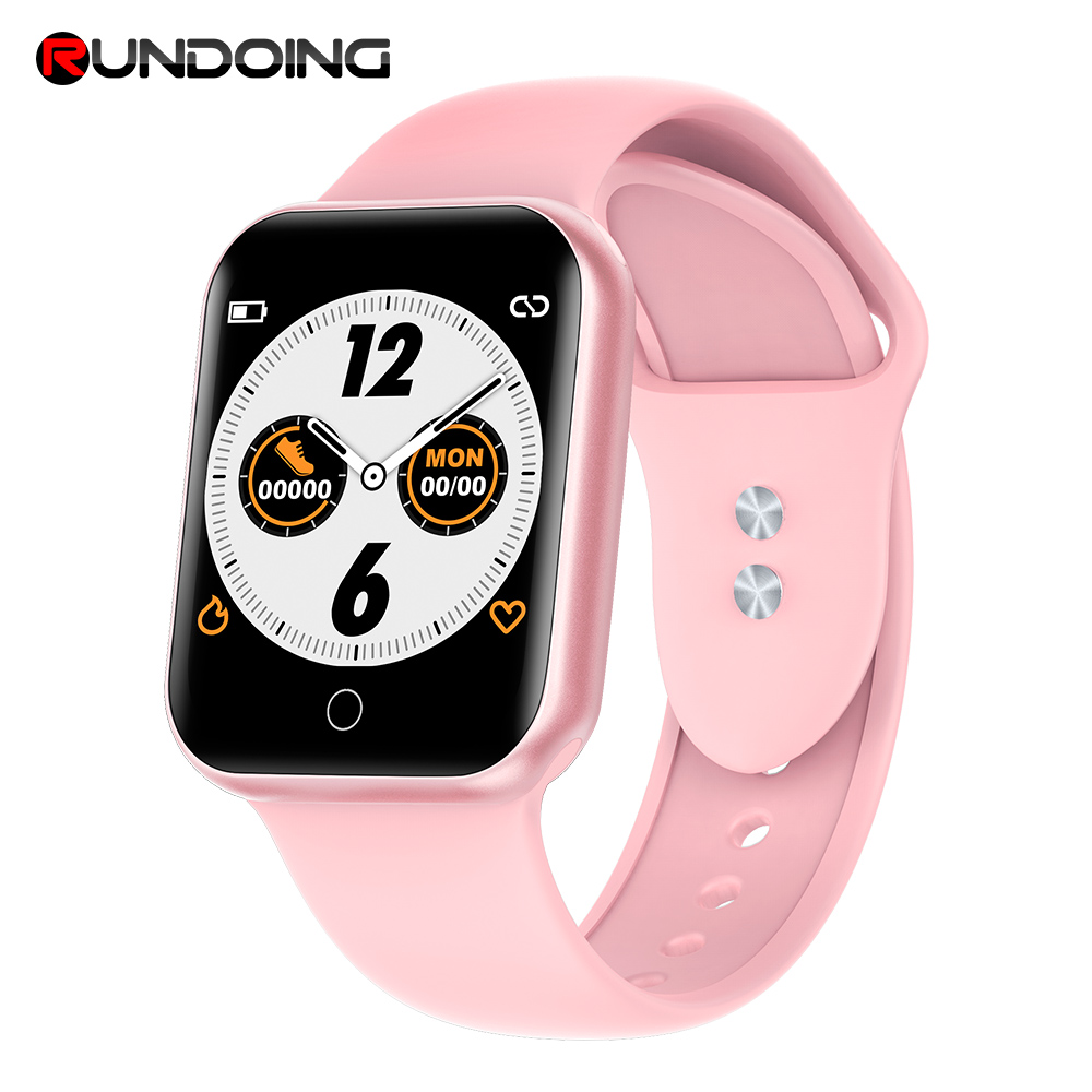 RUNDOING NY07 Women Bluetooth Smart Watch Heart Rate Blood Pressure Fitness Tracker Fashion Men Sport Smartwatch For Ladies Men(China)