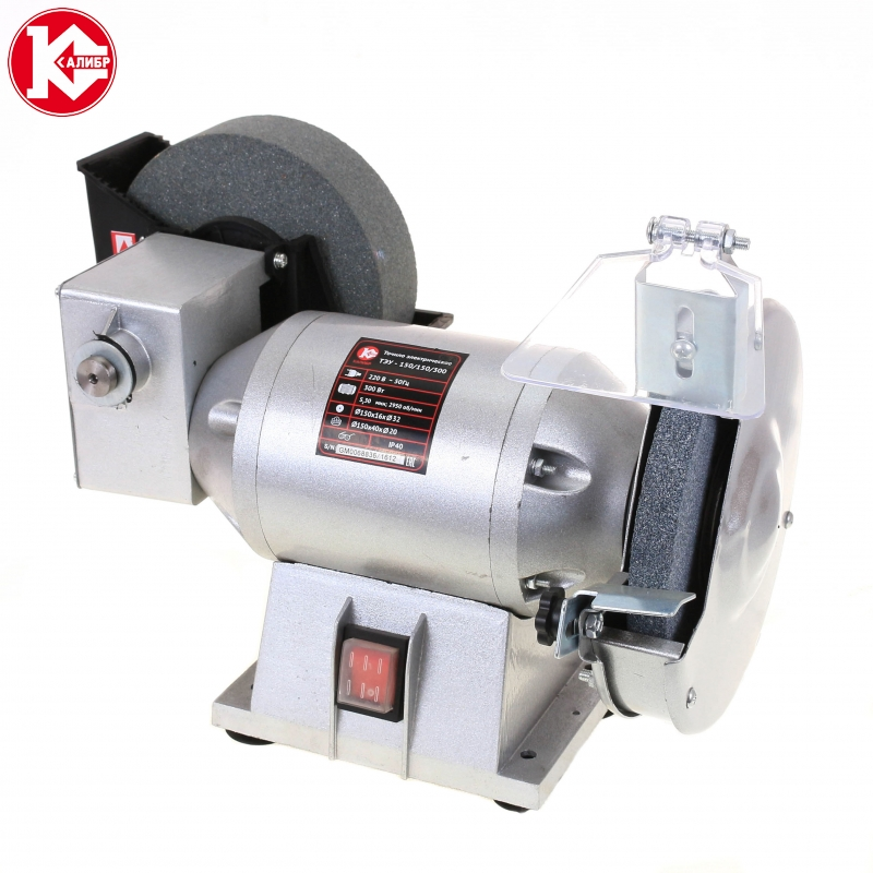 Electric bench grinder Kalibr TEU-150/150/300 kalibr teu 150 200 400 water cooled grinder electric knife sharpener low speed grinding machine 220v