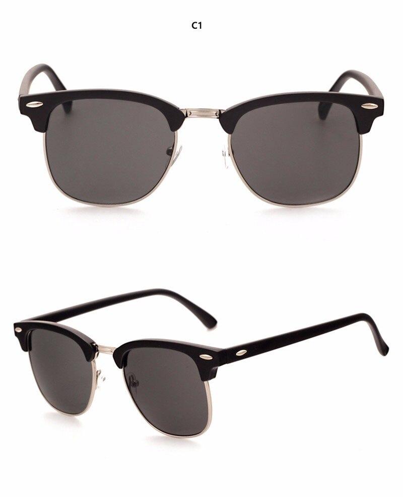 Iuooke 2018 Half Metal High Quality Sunglasses Men Women Brand ... eebfd804f3