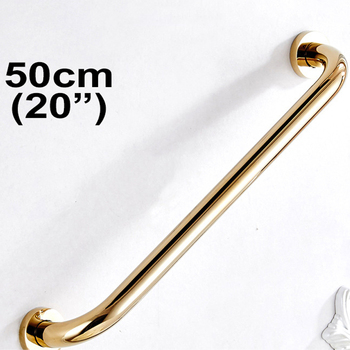 700Brass Bathroom Shower Assist Grab Bar, 50cm, Polished Gold Finish, Solid Brass, Idea for Home /  Hotel / Motel / Hospital