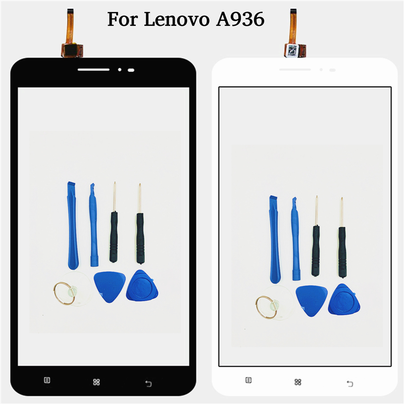 For Lenovo A936 a 936 6'' 100% test mobile screen front glass digitizer touch panel replacement sensor with free tools