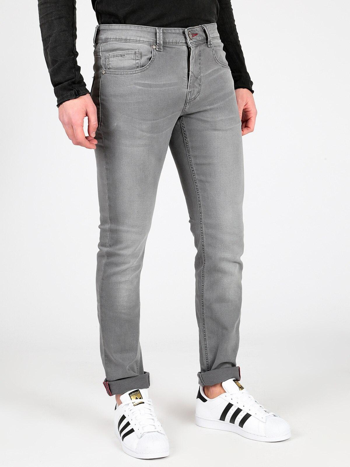 Gray Jeans Pattern 5 Pockets