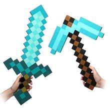 76e6f4ea4 2016 Zabawki Minecraft Minecraft Diamentowy Miecz Kilof Foam Gun Axe TNT  EVA Klocki Prezent Zabawki Dla