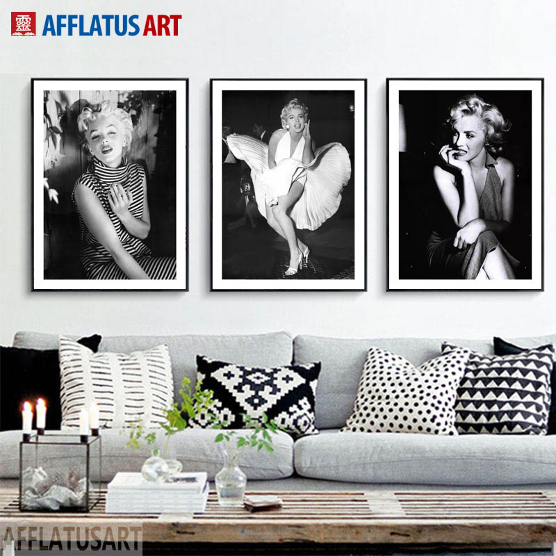 Marilyn, Wall, Prints, Monroe, Home, Canvas