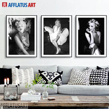 Marilyn Monroe Nordic Poster Wall Art Canvas Painting Black White Posters And Prints Pictures For Living Room Home Decor