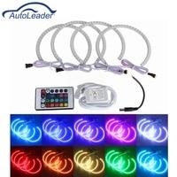 Autoleader 4x RGB LED Light Xenon Lamp Angel Eyes Halo Ring Car Headlight Bulbs Front Lights Romote For BMW E36 E38 E39 E46