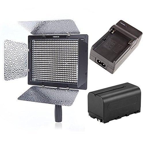 YONGNUO YN600L II 600 светодио дный свет Панель 5500 К LED видео Студийный свет 2 батареи двойной Зарядное устройство с беспроводным 2,4 ГГц дистанционным
