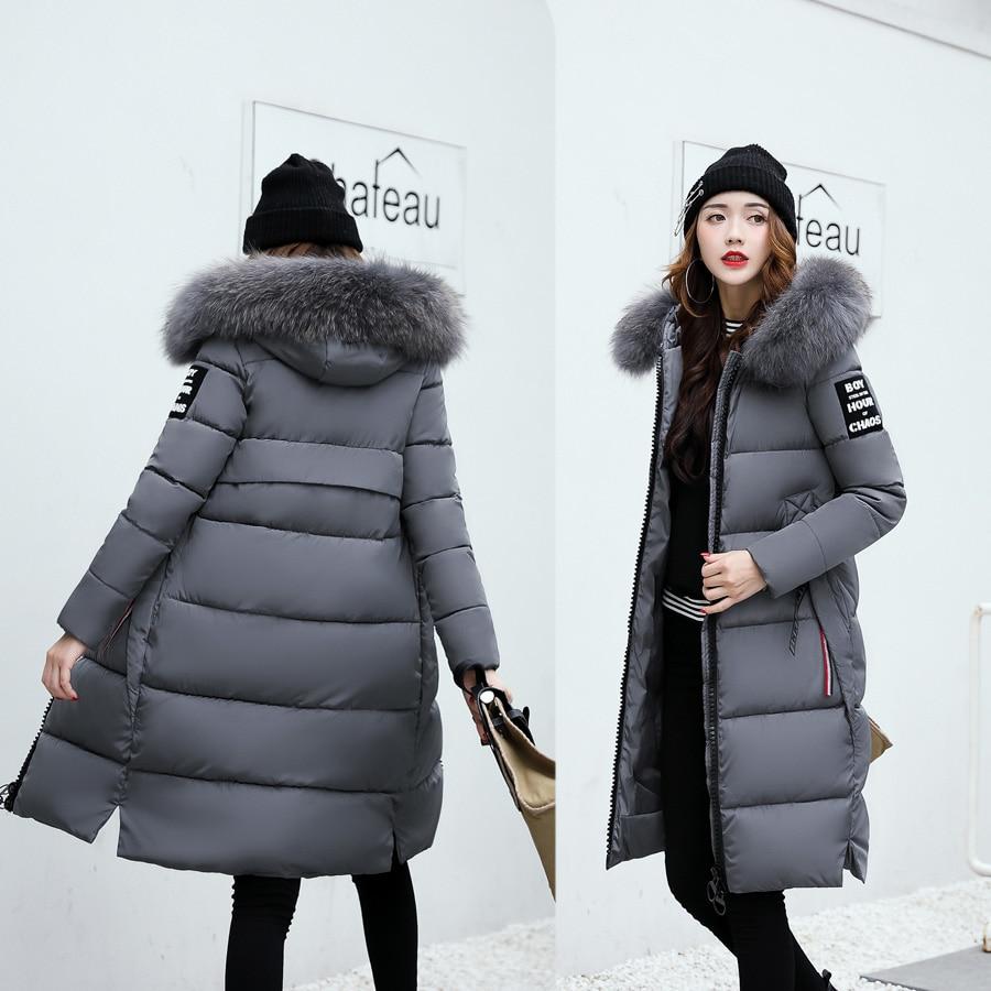 Veste Coton En D'hiver Épaissir Parka Femmes Manteau Chaud Femme De Grand Col Rembourré Long Fourrure Capuchon À dCrxoeWB