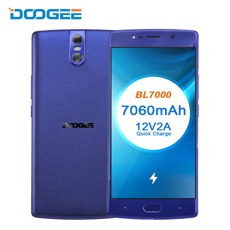 DOOGEE BL7000 4G Dual Sim Smartphone 5.5 FHD 7060mAh Quick Charge 4G 64GB Octa Core Android 7.0 Mobile Phone Fingerprint 13MP