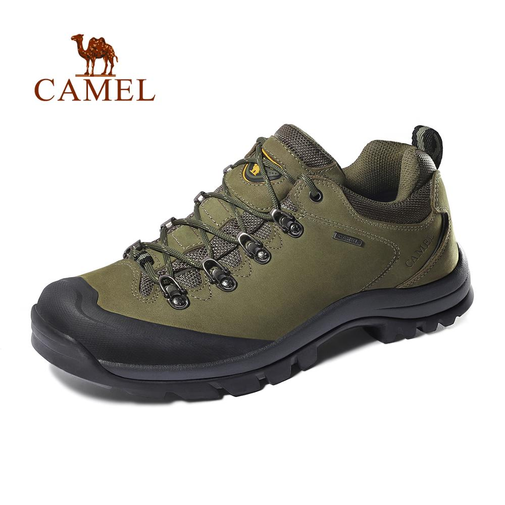 CAMEL Men Women Outdoor Hiking Shoes Leather Anti-skid Breathable Climbing Trekking Hiking Sneakers(China)