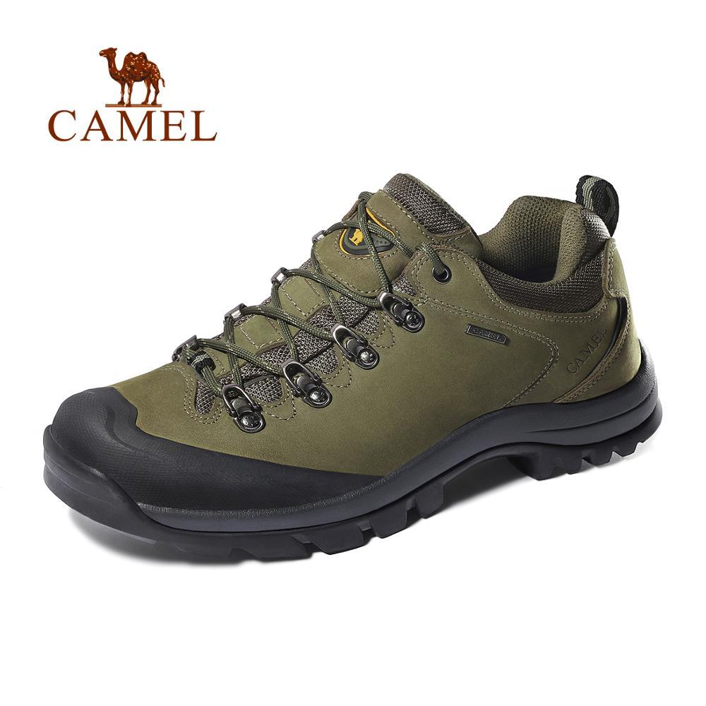 Мужские и женские беговые кроссовки CAMEL, кожаные Нескользящие  дышащие треккинговые кроссовки для альпинизмаhiking shoesmen hiking  shoesshoes hiking
