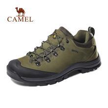 Camel tênis para caminhada, calçado de couro antiderrapante respirável para homens e mulheres, para trilha e caminhada ao ar livre