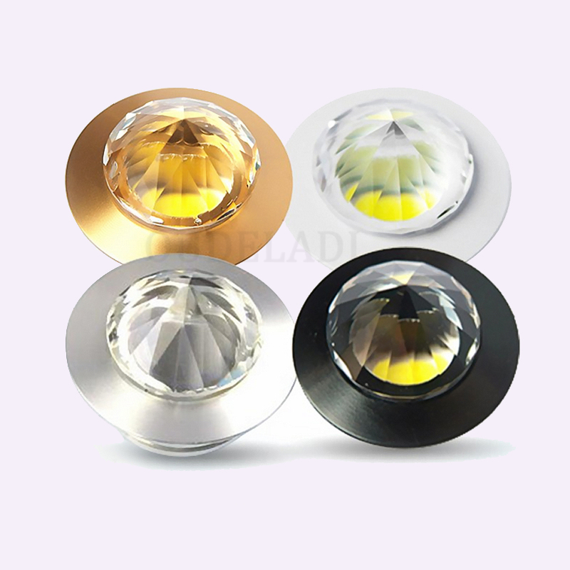 3W <font><b>LED</b></font> Diamond Shape mini spotlight home living room background decoration Crystal Down light showcase/wine cabinet <font><b>spot</b></font> light image