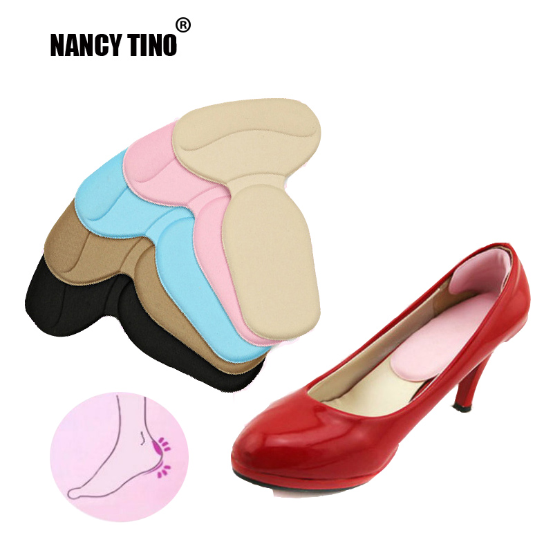 NANCY TINO Women 4D Soft Memory Foam Multicolor Insole Pads High Heel Gel Foot Care Protector Anti Slip Cushion Shoes Inserts цена