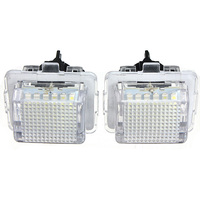 2PCS 12V 18 SMD Car LED License Number Plate Light Lamp For Mercedes Benz W204 W221