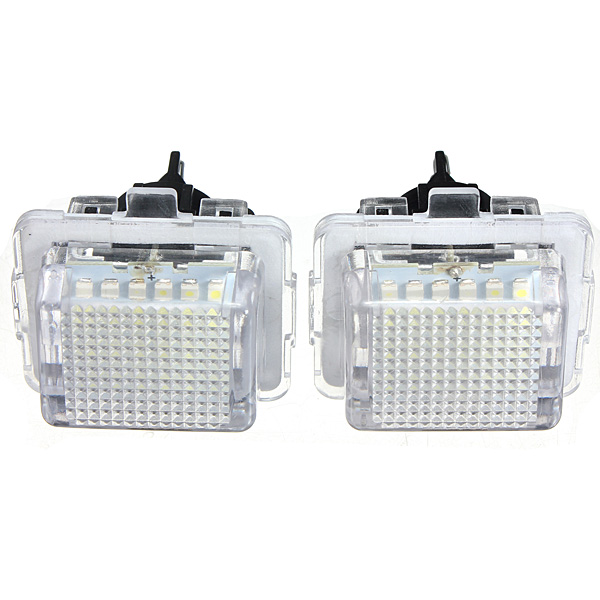 2PCS 12V 18 SMD Car LED License Number Plate Light Lamp For Mercedes/Benz W204 W221 W212 W216 hopstyling 2pcs direct fit white 18 smd car led license plate light lamp for nissan teana j31 j32 maxima cefiro number light