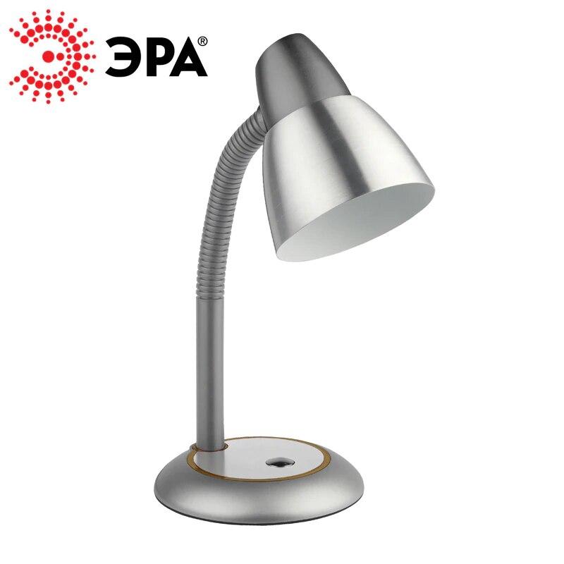 ERA de la lámpara de mesa E27 40 W N-115-E27-40W de plata/negro/rojo