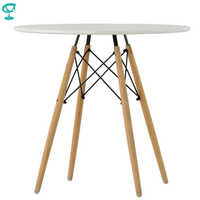 94923 Barneo T-8 MDF Interior Dinner Table Bar Table Kitchen Furniture Dining Table white free shipping in Russia