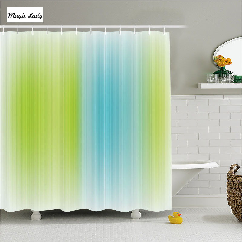 Shower curtain green bathroom accessories striped texture for Blue and white striped bathroom accessories